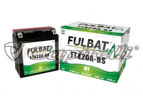 baterie 12V, FTX20A-BS, 18Ah, 230A, bezúdržbová MF AGM 150x87x161 FULBAT (vč. balení elekt