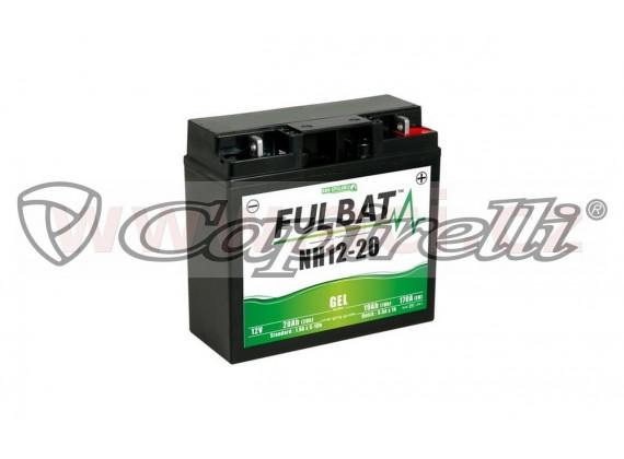 baterie 12V, NH12-20 GEL, 20Ah, 170A, bezúdržbová GEL technologie 185x81x170 FULBAT (aktiv