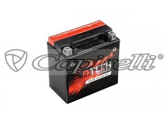 baterie 12V, YTX14-BS, 12Ah, 200A, bezúdržbová MF AGM 150x87x145 A-TECH (vč. balení elektr