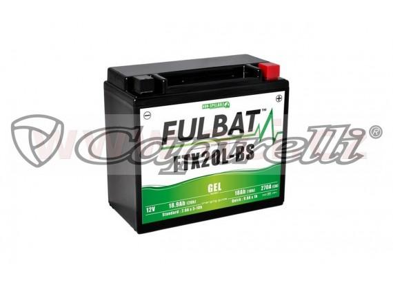 baterie 12V, YTX20L-BS, 18Ah, 310A, bezúdržbová GEL 175x87x155, FULBAT (aktivovaná ve výro