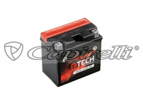 baterie 12V, YTZ7S-BS, 6Ah, 130A, bezúdržbová MF AGM 113x70x105, A-TECH (vč. balení elektr