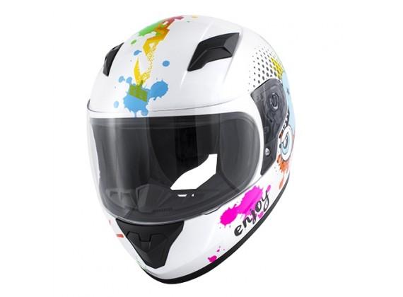 Dětská integrální helma bílá