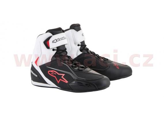 boty FASTER 3, ALPINESTARS (černé/bílé/červené)