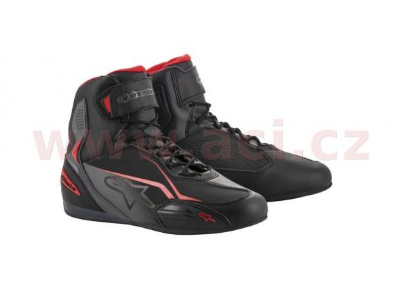 boty FASTER 3, ALPINESTARS (černé/šedé/červené)