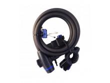 Zámek na skútr a motocykl Cable Lock - černý 1,8m
