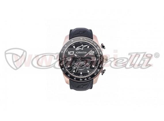 hodinky TECH CHRONO PVD GOLD ROSE, ALPINESTARS (zlatá/černá, pryžový pásek)