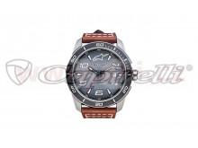 hodinky TECH HERITAGE, ALPINESTARS (broušený nerez, kožený pásek)