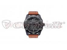 hodinky TECH HERITAGE, ALPINESTARS (černá matná, kožený pásek, verze vč. rezervního textil