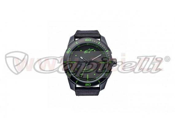 hodinky TECH PVD, ALPINESTARS (černá/zelená, textilní pásek)