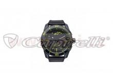 hodinky TECH PVD, ALPINESTARS (černá/žlutá, textilní pásek)