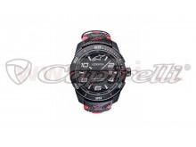 hodinky TECH RACE, ALPINESTARS (černá/červená, kožený pásek)