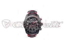 hodinky TECH RACE CHRONO, ALPINESTARS (černá/červená, kožený pásek)