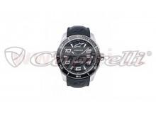 hodinky TECH STEEL, ALPINESTARS (broušený nerez/černá, pryžový pásek)