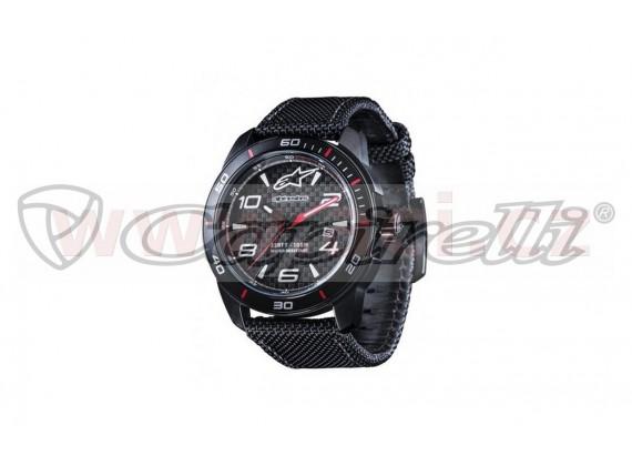 hodinky TECH WATCH, ALPINESTARS, (černá, textilní pásek vč. rezervního koženého pásku)