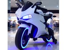 Dětská elektro motorka pro nejmenší - bílá