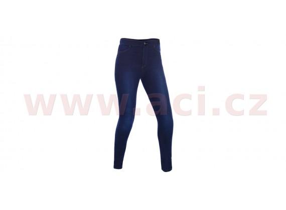 kalhoty JEGGINGS, OXFORD, dámské modré