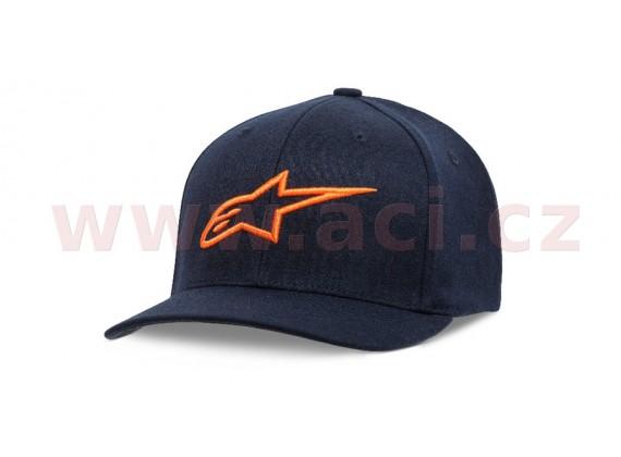 kšiltovka AGELESS CURVE HAT, ALPINESTARS, dětská (modrá navy/oranžová)