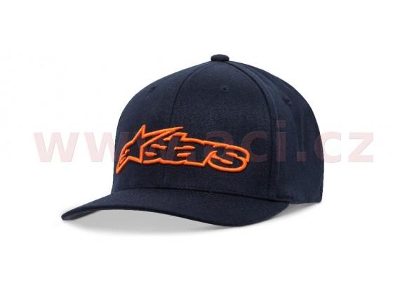 kšiltovka BLAZE FLEXFIT HAT, ALPINESTARS (modrá/oranžová)