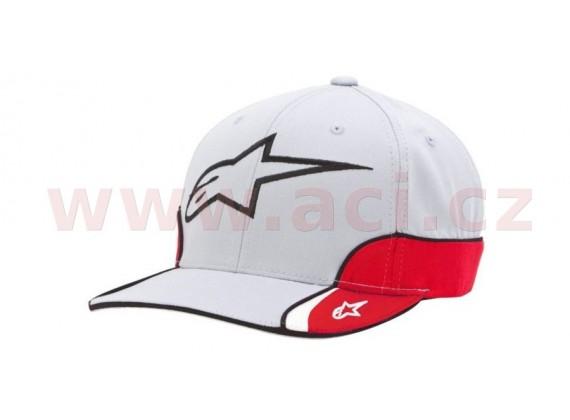 kšiltovka CHAMPION HAT, ALPINESTARS (šedá/bílá/červená/černá)
