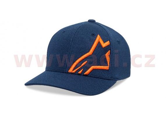 kšiltovka CORP SHIFT MOCK MESH HAT, ALPINESTARS (modrá/oranžová)