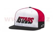 kšiltovka FASTER HAT, ALPINESTARS (bílá/černá/červená)