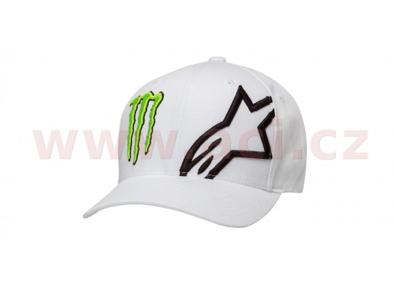 kšiltovka MONSTER CORP HAT, ALPINESTARS (bílá)