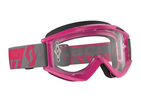 Brýle RECOIL XI WORKS, SCOTT - (růžové, čiré plexi s čepy pro slídy)