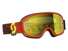Brýle BUZZ MX, SCOTT - dětské (černé/fluo žluté, žluté plexi s čepy na slídy)