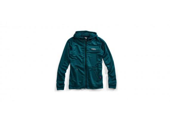 mikina na zip s kapucí Union, 100% (tyrkysová)