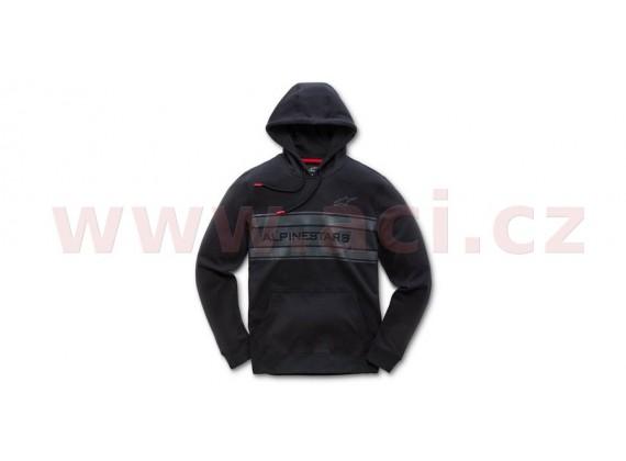 mikina s kapucí POLE, ALPINESTARS (černá)