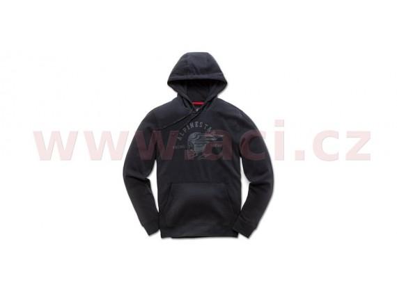 mikina s kapucí SKULLISION, ALPINESTARS (černá)