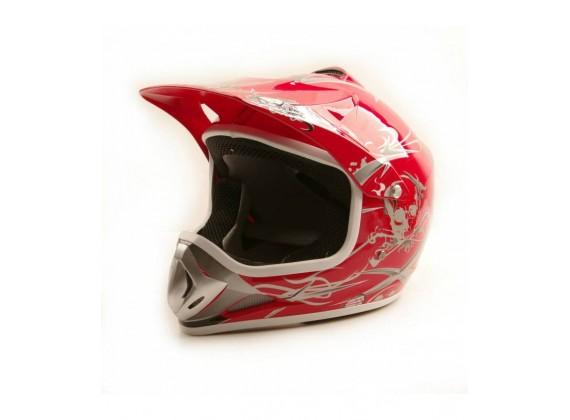 Moto přilba Sunway NITRO Enduro Junior PHX - červená