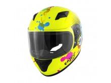 Dětská integrální helma neonová žlutá