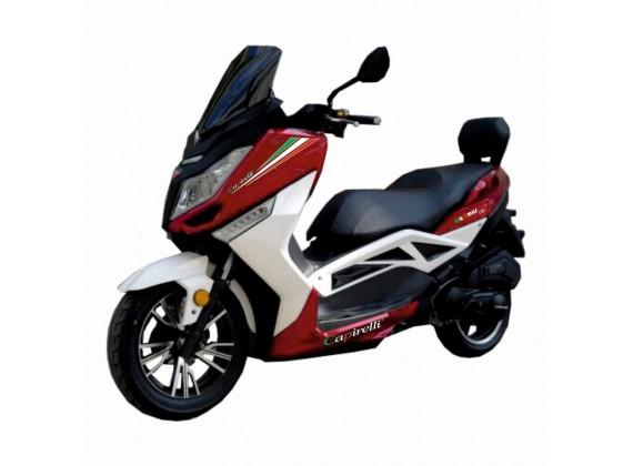 New Maximus 125 červená/bílá- EURO 3