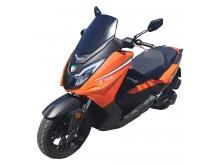 New Maximus  III - 125 oranžová/černá - EURO 4
