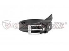 pásek AGELESS LEATHER BELT, ALPINESTARS (černý/chrom přezka, kůže)