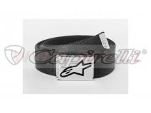pásek AGELESS WEB BELT, ALPINESTARS (černý/ chrom přezka, textil)