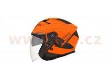 přilba N127 FUSION, NOX (oranžová fluo matná/černá/šedá) velikost L