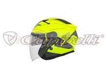 přilba N127 FUSION, NOX (žlutá fluo matná/černá/šedá)