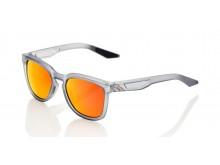 sluneční brýle HUDSON Soft Tact Translucent, 100% (zabarvená červená skla)