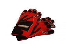 Motocyklové rukavice textilní červené velikost M