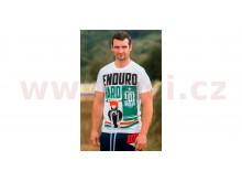 tričko ENDURO HARD krátký rukáv, 101 RIDERS (bílé)
