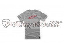 triko AGELESS CLASSIC TEE, ALPINESTARS (šedé/červené)