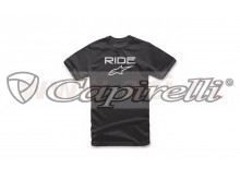 triko RIDE SOLID TEE, ALPINESTARS (černé/bílé)