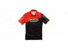 triko s límečkem Team Geico Honda, 100% - USA (černá)